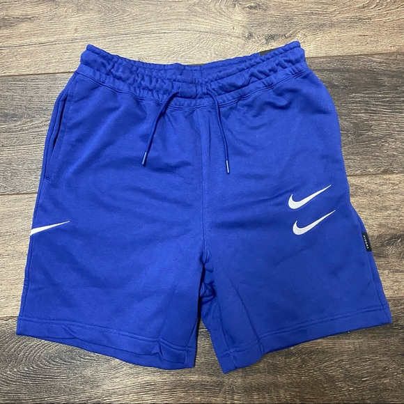 Nike World Tour sweat shorts small blue mens